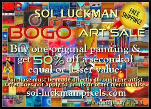 Sol Luckman BOGO Art Promo Gets You a Free Book